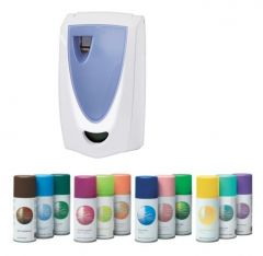 Spa Programmable Air Freshener Package 1 - 4 x Dispensers + 12 Refills