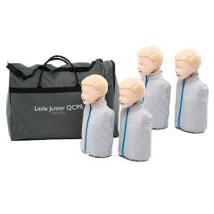 Little Junior™Child QCPR Training Manikin  Light  Skin Quad Pack