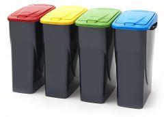 Trojan 25 Litre Push Lid Recycling Bin (Various Colours)