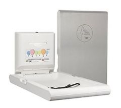 BabyMedi Vertical Baby Changing Station- Satin Stainless Steel