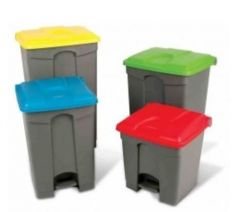 Step On Container Pedal Bin 45 Litre (Various Colours)