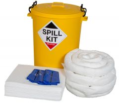 120L Spill Kits General, Chemical, Oil, in Yellow Wheeled Bin