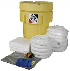 250L Oil & Fuel Spill Kit - Overpack Plug Drain Cover