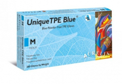 Aurelia Unique TPE Latex Free Gloves in Blue - Box of 200 - 4 Sizes