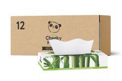 Cheeky Panda Bamboo Flat Facial Tissues - 12 Boxes with 80 Sheets