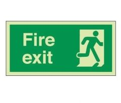 Photoluminescent Fire Exit Sign 30 x 15 cms