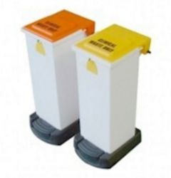 20 Litre Plastic Fire Retardant Sack Holder with Graphics
