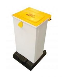 65 Litre Plastic Sack Holder Fire Retardant White Body with Graphics