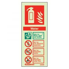 Fire Extinguisher Water Glow In The Dark Sign