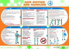 Safe Moving and Handling Poster (420x590mm)