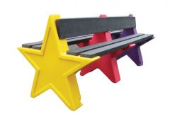 Eight Person Double Sided Star Bench Seat (Various Colours)