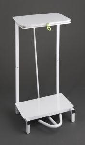 Trojan Free Standing Steel Sack Holder in White No wheels