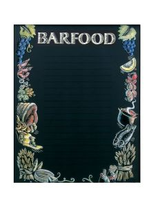 'Bar Food' Printed Effect Display Board 610 x 762mm