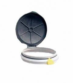 "Wall Mounted Circular 14"" Diamater Sack Holder with Rubberised Holding Band"