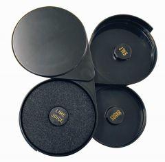 Foldable Glass Rimmer in Black Plastic