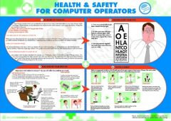Health and Safety for Computer Operators Poster (420x590mm)