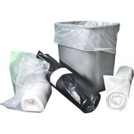 Cleanworks Extra Light Density White Swing Bin Liners  (Case of 500)