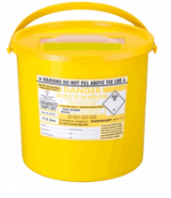 Yellow Lid Sharps Bin 11.5 Litre (Case of 20)