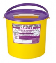 Purple Lid Sharps Bin 11.5 Litre (Case of 20)