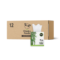Cheeky Panda Bamboo Facial Tissue Cube 56 Sheets X 12 Boxes