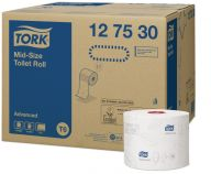 Tork Advanced T6 Mid-Size Toilet Roll 2ply (Case of 27) - 127530