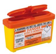 Orange Lid Sharps Bin 1 Litre (Case of 30)
