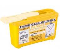 Yellow Lid Sharps Com Plus Bin 1 Litre (Case of 30)