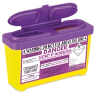 Purple Lid Sharps Bin 1 Litre (Case of 30)