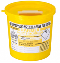 Yellow Lid Sharps Bin 2.5 Litre (Case of 48)