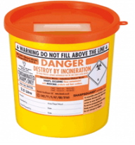 Orange Lid Sharps Bin 2.5 Litre (Case of 48)