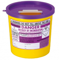 Purple Lid Sharps Bin 2.5 Litre (Case of 48)