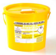 Yellow Lid Sharps Bin 7 Litre (Case of 40)