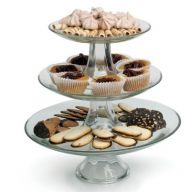 3 Tiered Glass Display Stand (Pack of 2)