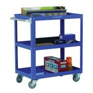 Adjustable Tray Trolley with Three Shelves H900 x W500 x L820mm