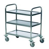 Economy Stainless Steel Trolley With 3 Shelves 685 x 380mm