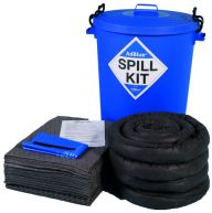 AdBlue Solution 100 Litre Spill Kit in a Blue Drum