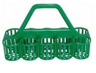 10 Glass Bottle Carrier in Green Plastic