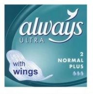 Always Ultra Normal Plus Towels with Wings 2 pack (Case of 200)