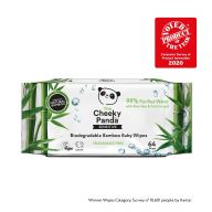 24 Packs of 64 Cheeky Panda Biodegradable Bamboo Baby Wipes