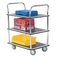 Lightweight Three Shelf Trolley with Chrome Handles