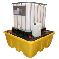 Single - IBC Spill Pallet - Low Level with Removable Deck