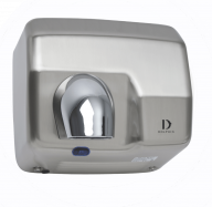 Dolphin Chrome Plated Hot Air Hand Dryer in Satin