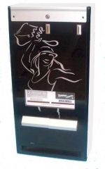 Dual Column Reconditioned Vending Machine Black/Satin Chrome