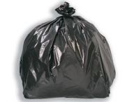 "Light Duty Black Bin Bags 5KG 16x25x38"" (Case of 200)"