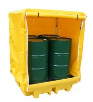 4 Drum Covered Spill Pallet Secondary Containment BP4C LAST ONE