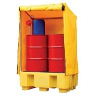 2 Drum Spill Pallet with Framed Cover