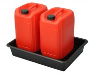 Tray for 2 x 25 Litre Bunded Drums- 95% Recycled Plastic