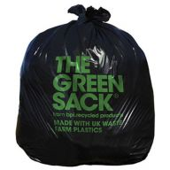 CleanWorks Black Sack Bin Bag 10KG+ (Case of 200)