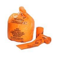 PTD NHS Orange Clinical Waste Sacks 50 Per Roll (Case of 7)