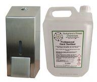 C21 800ml Liquid Soap and Sanitiser Dispenser & 5L Sanitiser Bundle